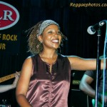 The beautiful and talented Leba Thomas onstage with the Maytals at Toad's Place. Pic from reggaephotos.com.